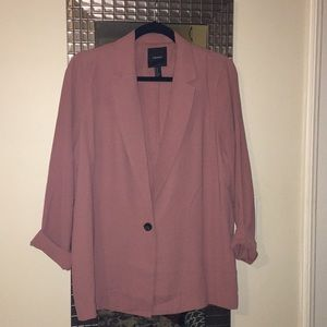 Rose pink Blazer by Forever 21